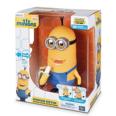 Minions Kevin Banana Eating Action Figure: Toys & Games