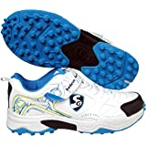 SG Rubber Cricket Spikes Cricket Shoes with Dual Closure, Laces and Velcro Strap