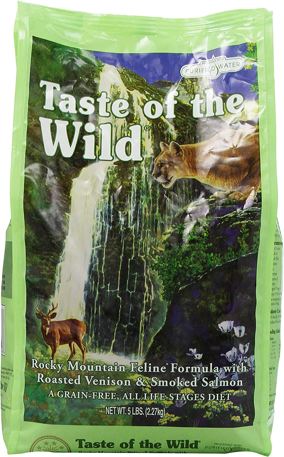 Taste Of The Wild Dry Cat Food, Rocky Mountain Feline Formula With Roasted Venison And Smoked Salmon, 5 Pound