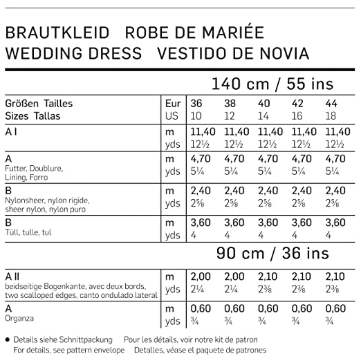 Amazon.com: 7251 Burda Style Wedding Dress Sewing Pattern Sizes 10-18: Kitchen & Dining