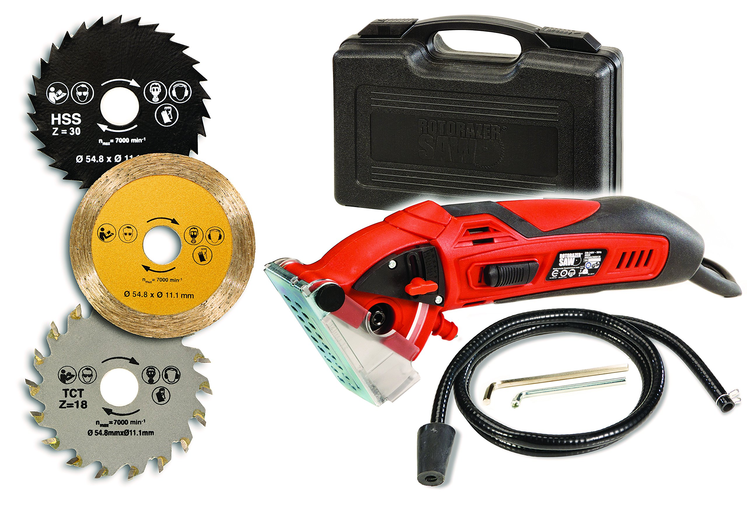 Details about rotorazer multi purpose circular mini saw with 3 interchangeable blades and dust rotorazer multi purpose circular mini saw with 3 interchangeable blades and dust extraction system red keyboard keysfo Choice Image