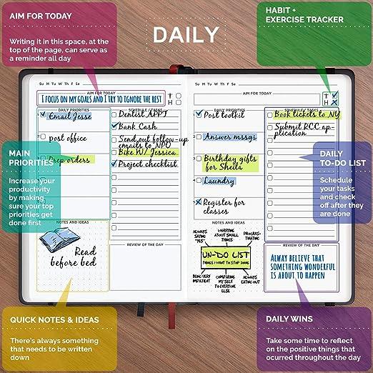 Agenda y planificador diario 2019 para aumentar la ...