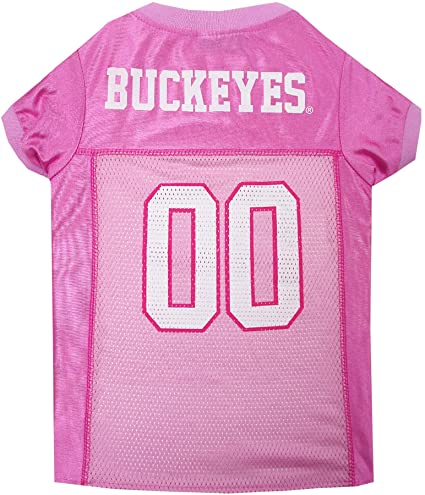 finest selection 36832 92a6d NCAA Ohio State Buckeyes Dog Pink Jersey, Small. - Pet Pink Outfit.