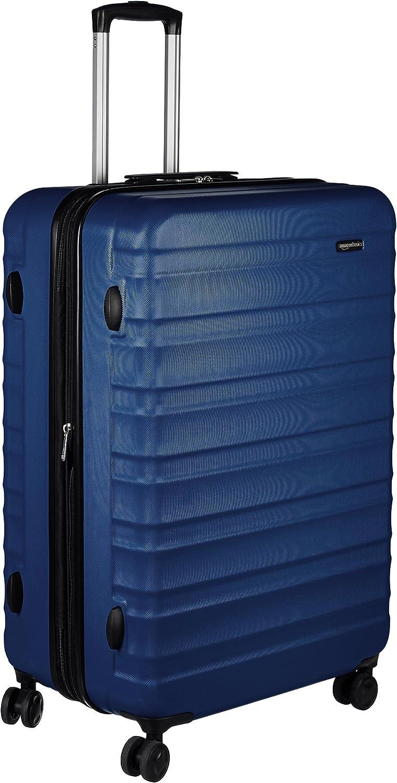 AmazonBasics -  Maleta de viaje rígidaa giratoria - 78 cm, grande, Azul marino