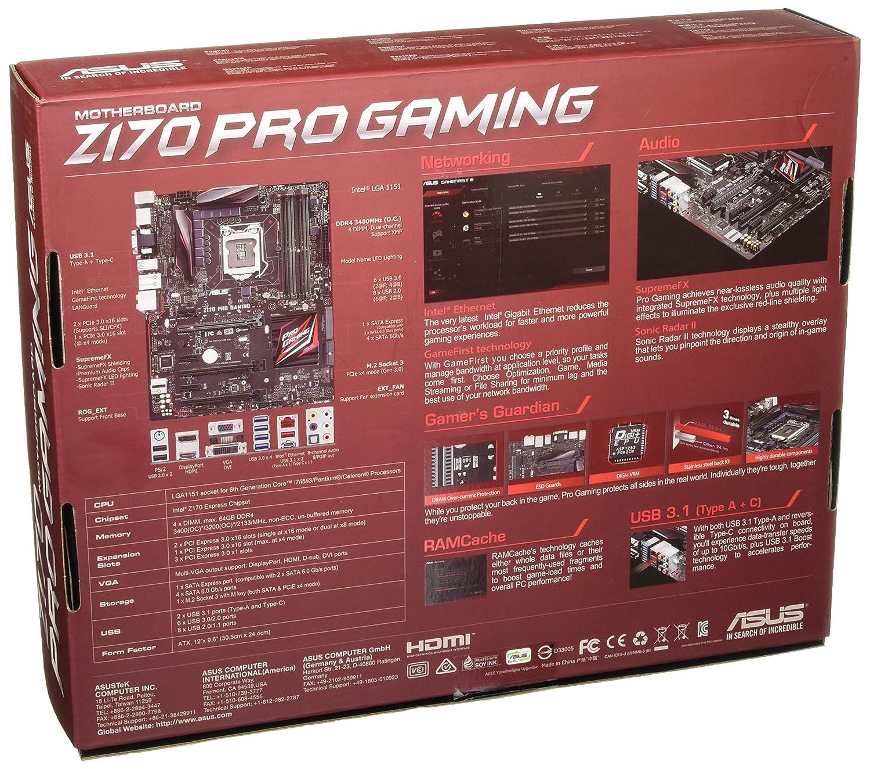 Socket 1151, B150, DDR4, S-ATA 600, ATX Asus B150 Pro Gaming//Aura Motherboard