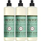 MRS MEYERS Liquid Dish Soap, Basil, 16 Fluid Ounce (Pack of 3)