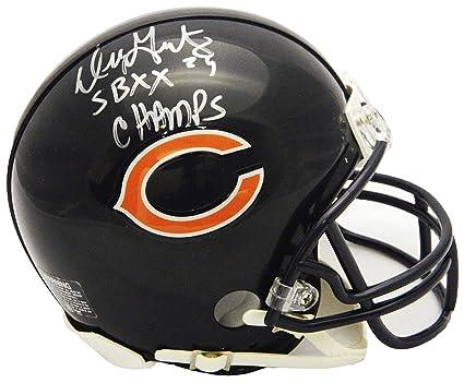 d5d5d923 Amazon.com: Dennis Gentry Signed Chicago Bears Riddell Mini Helmet w ...