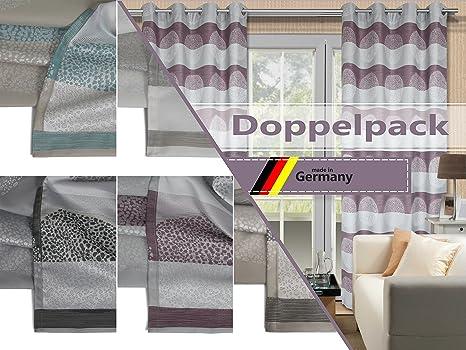 f8b501732206dd Deko Trends Doppelpack zum Sparpreis - Blickdicht gewebte Ösenschals Lounge  Markenqualität Made in Germany - erhältlich