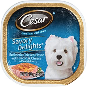 Mars Pet Care Mars Cesar Savory Delights Rotisserie Chicken w/Bacon & Cheese, 1 Count, One Size