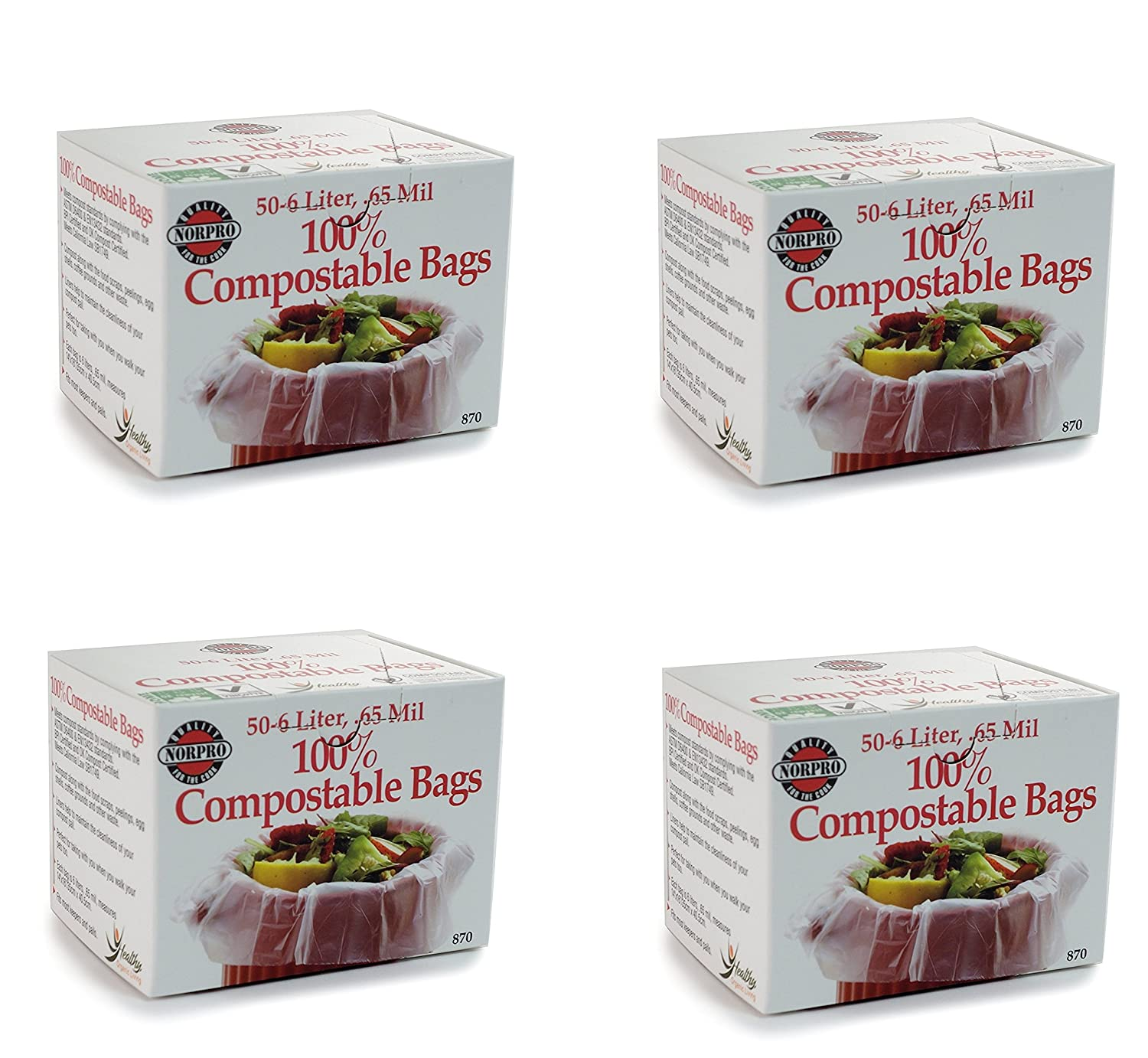 Norpro - 100% bolsas compostables: Amazon.es: Hogar