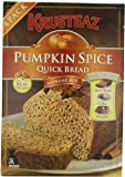 Pumpkin Spice Bread Quick Bread - Krusteaz Quick Bread Supreme Mix, NET WEIGHT 64 oz. (FOUR 1 lb MIX PACK)