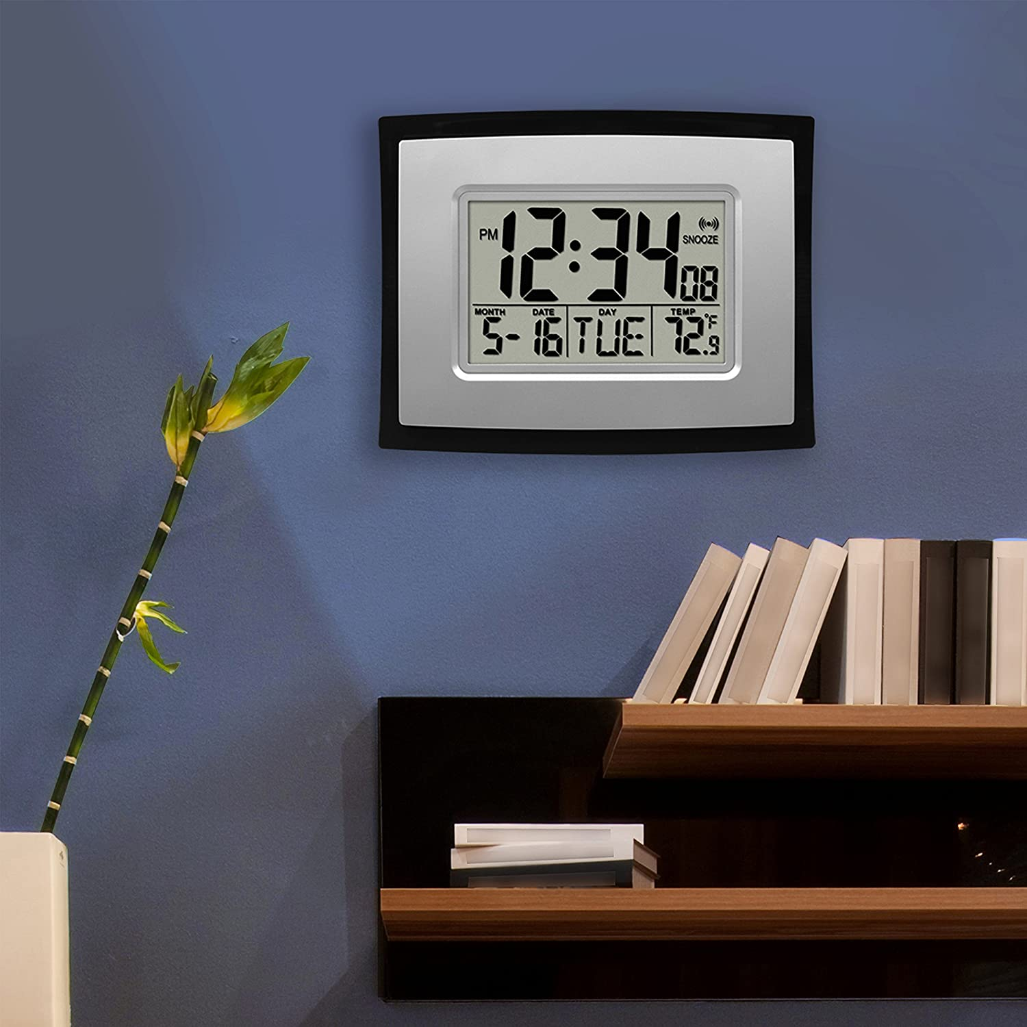 La crosse technology digital wall clock amazon home kitchen amipublicfo Image collections