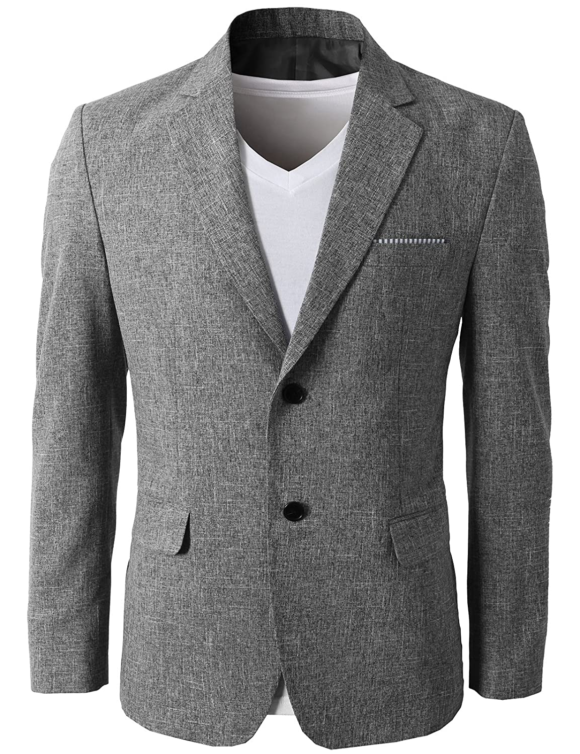 f8347722caf6 H2H Mens Slim Fit Suits Casual Solid Lightweight Blazer Jackets One Button  Flap Pockets at Amazon Men's Clothing store: Blazers And Sports Jackets