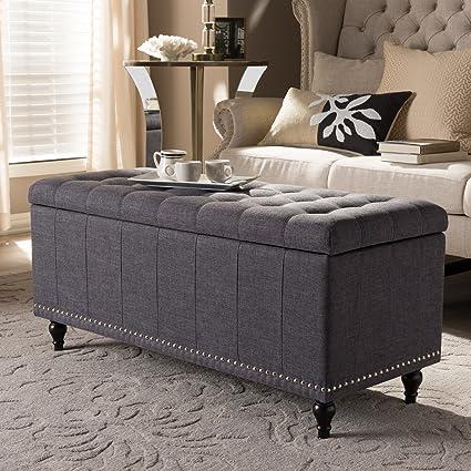 Swell Baxton Studio Kaylee Storage Bench In Dark Gray Dailytribune Chair Design For Home Dailytribuneorg