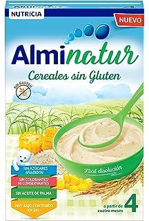 Alminatur Papilla de cereales sin Gluten a Partir de los 4 Meses - Paquete de 5