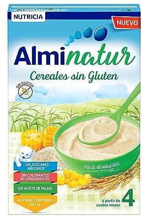 Alminatur Papilla de cereales sin Gluten a Partir de los 4 Meses Paquete de 5 x 250 g Total: 1.25 kg