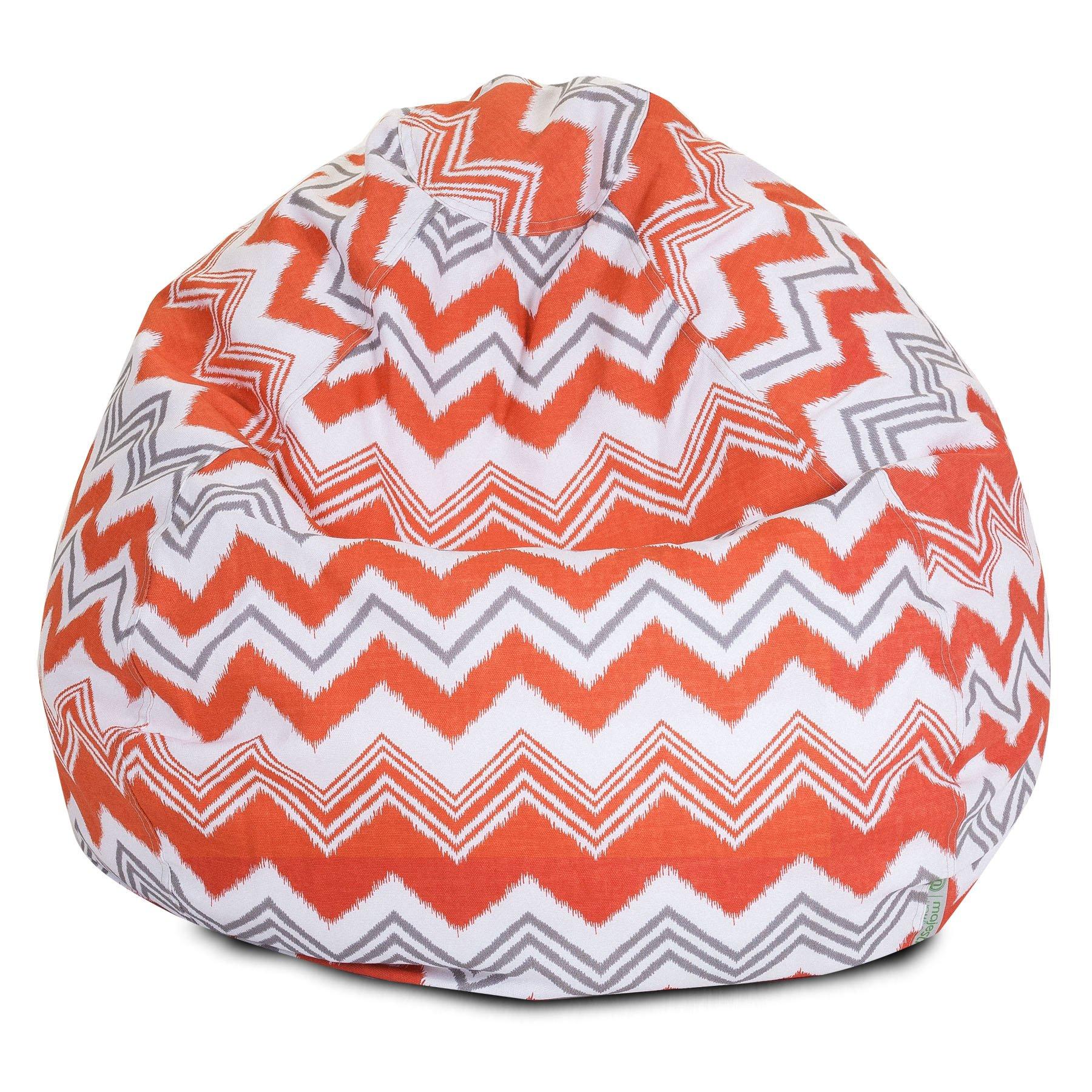 Majestic Home Goods Zazzle Bean Bag, Small, Orange