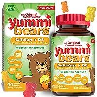 Yummi Bears Vegetarian Calcium + Vitamin D3 Gummy Vitamin Supplement for Kids, 90...