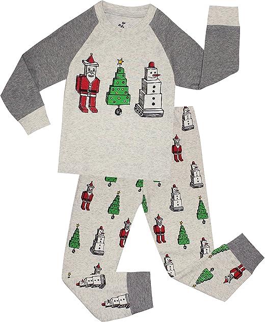 Toddler Boy Christmas Pajamas.Boys Christmas Pajamas Children Santa Claus Pjs Gift Toddler 2 Pieces Pants Set Sleepwear