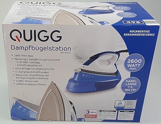 Plancha de vapor estación de la Casa Quigg DBS 3000, Capacidad Max 1,2 l, vapor cantidad: 4 niveles de elegir, 220 – 240 V ~, 50/60 Hz, 2020 de 2400 W: Amazon.es: Hogar