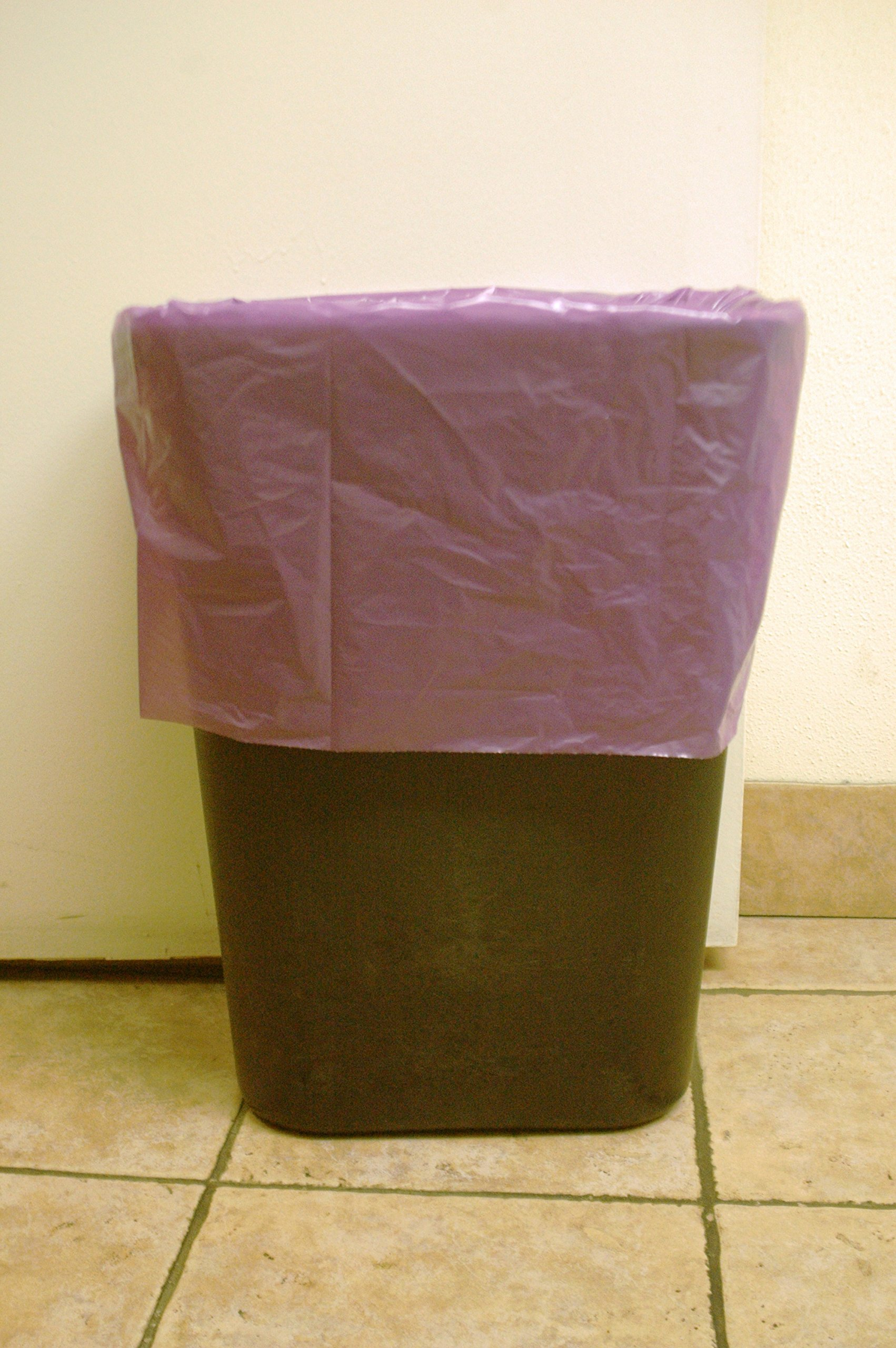 Extra Tall Kitchen Garbage Bags Purple 13 Gallon - 150/Case