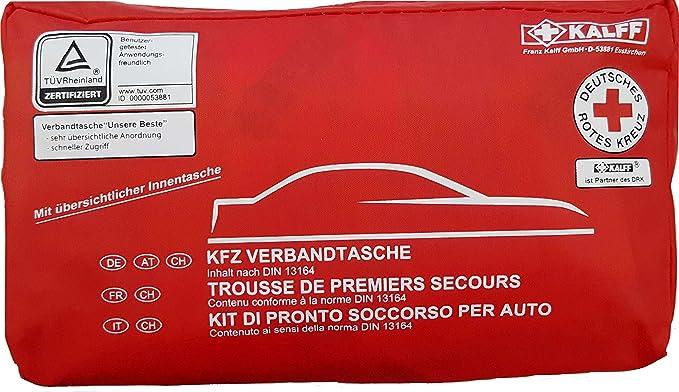 2 opinioni per Quattroerre 16056 Kit di Pronto Soccorso per Auto Omologato DIN 13164