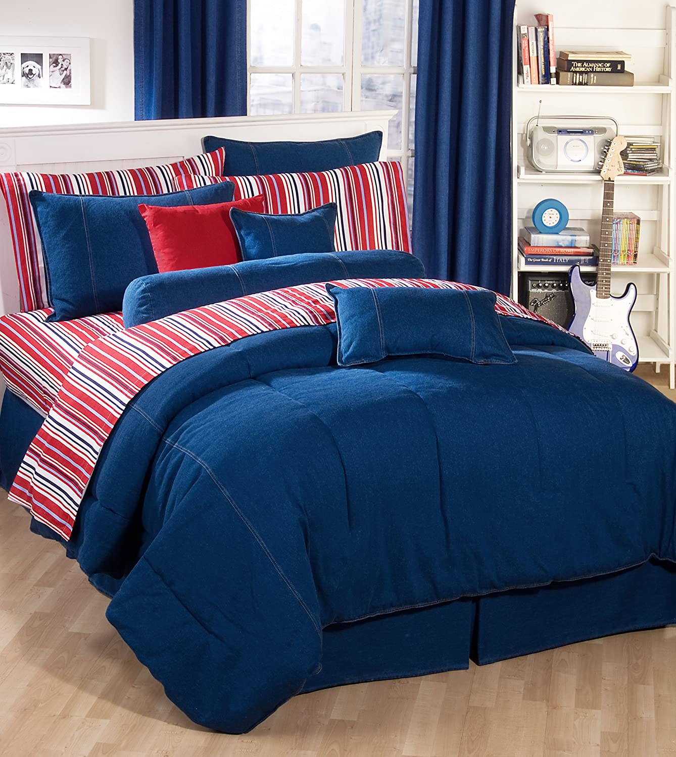Amazon.com: American Denim Comforter Set, Queen: Home & Kitchen