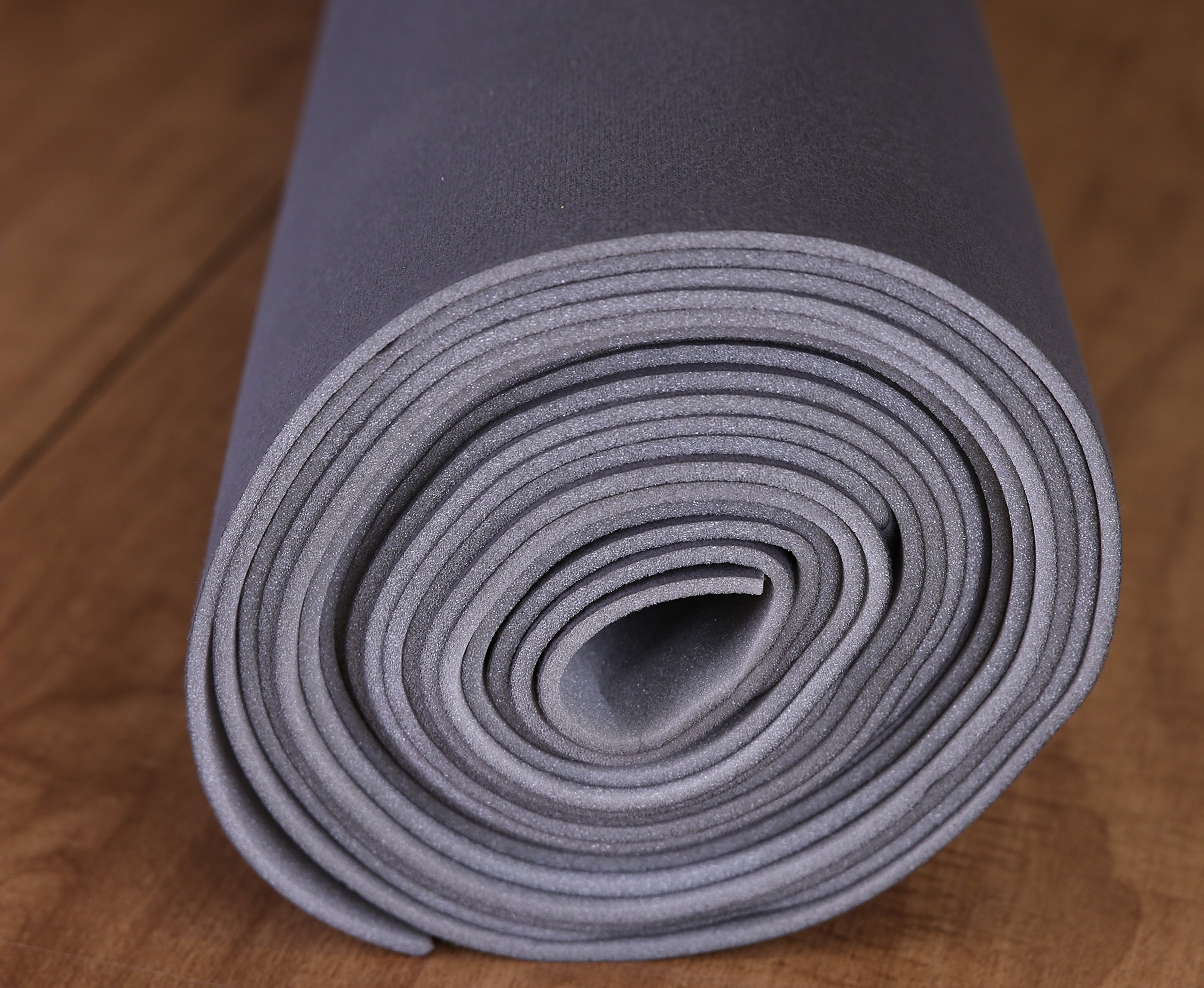 Dark Gray/Charcoal Auto Headliner 3/16'' Foam Backing Fabric Material (3 Yards - 108'' Long)