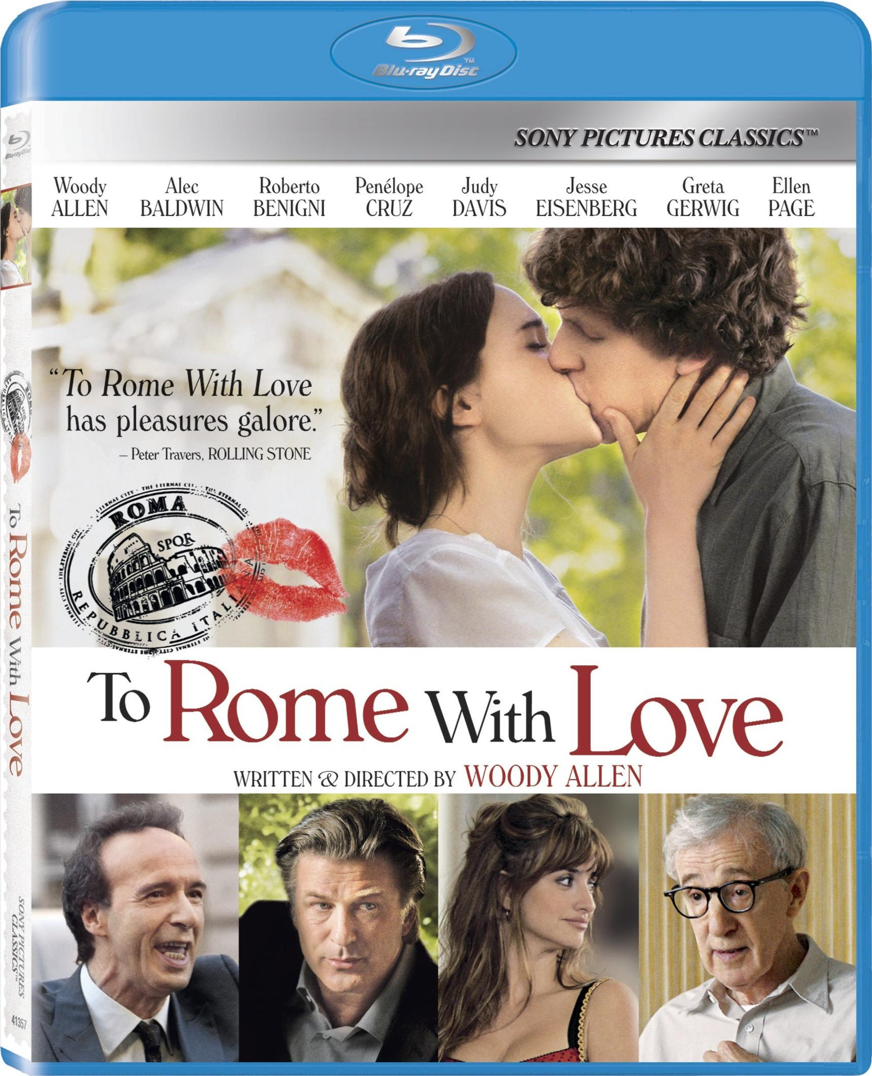 Blu-ray : To Rome with Love (Widescreen, Dolby, AC-3, )