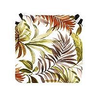 Tienda Eurasia - Pack de 4 Cojines para Sillas, Estampado Tropical Orange, con 2 Cintas de…