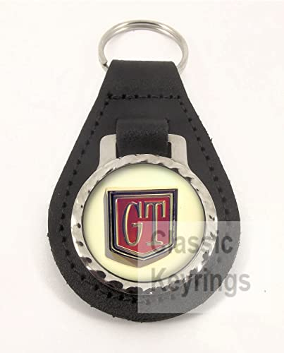 Ford Cortina Gt Keyring Keychain Real Leather