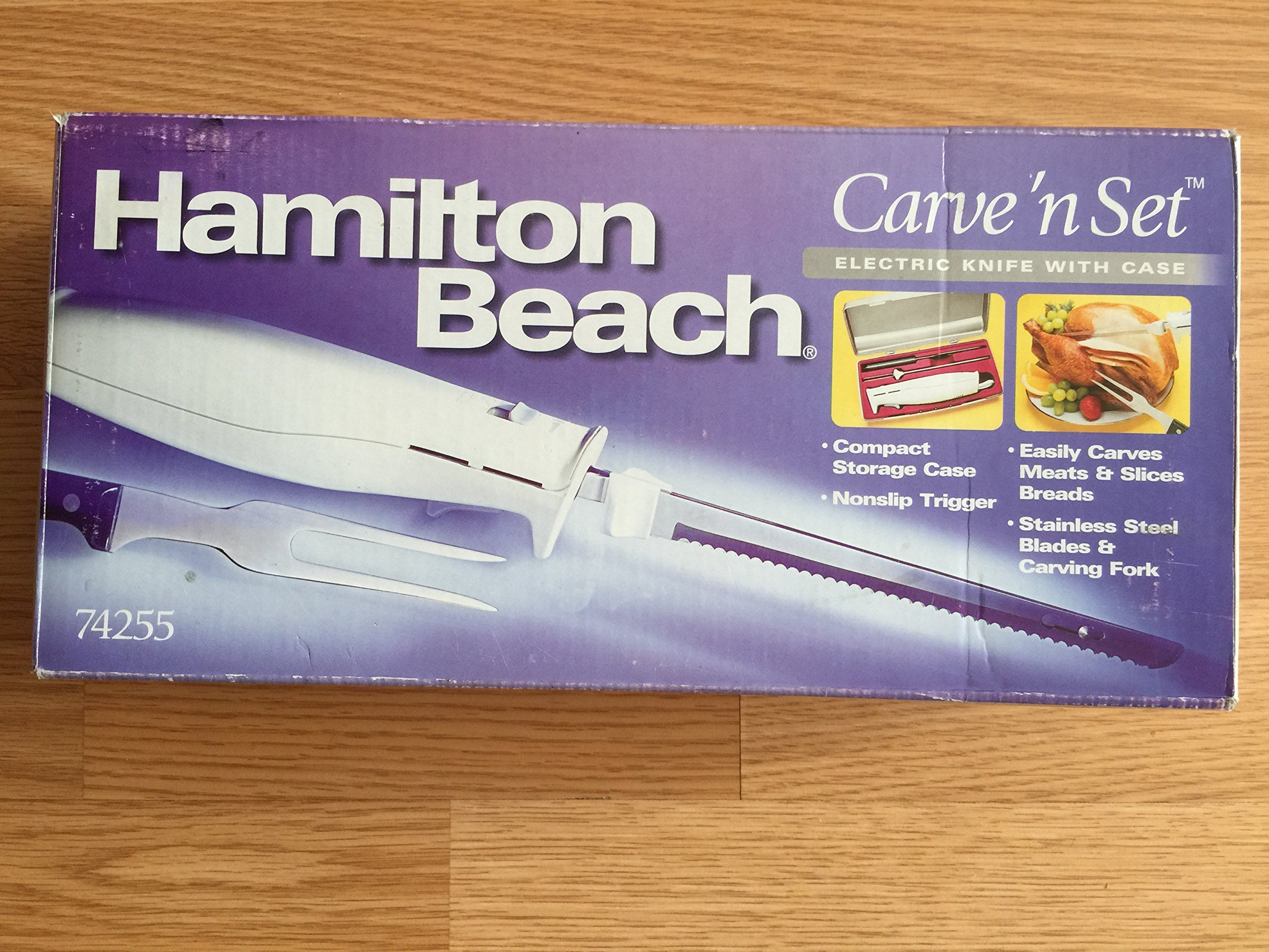 Hamilton Beach Carve 'n Set Electric Knife with case 74255