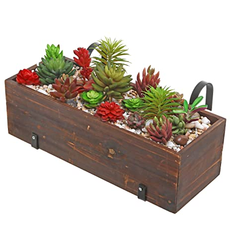 Amazon.com: Rustic Design Deck Rail Wood Planter Box, Over-the ... on wooden fence planters, wooden plant pots, wooden staircase planters, deck rail planters, wooden wall planters, wooden ladder planters, wooden deck planters, wooden patio planters, wooden chairs planters, wooden bench planters, wooden garden planters, wooden step planters,