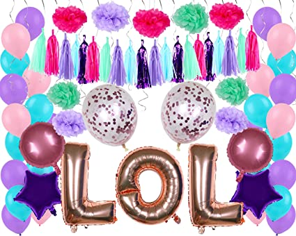 Amazon.com: LOL Party Supplies - Globos de confeti para ...