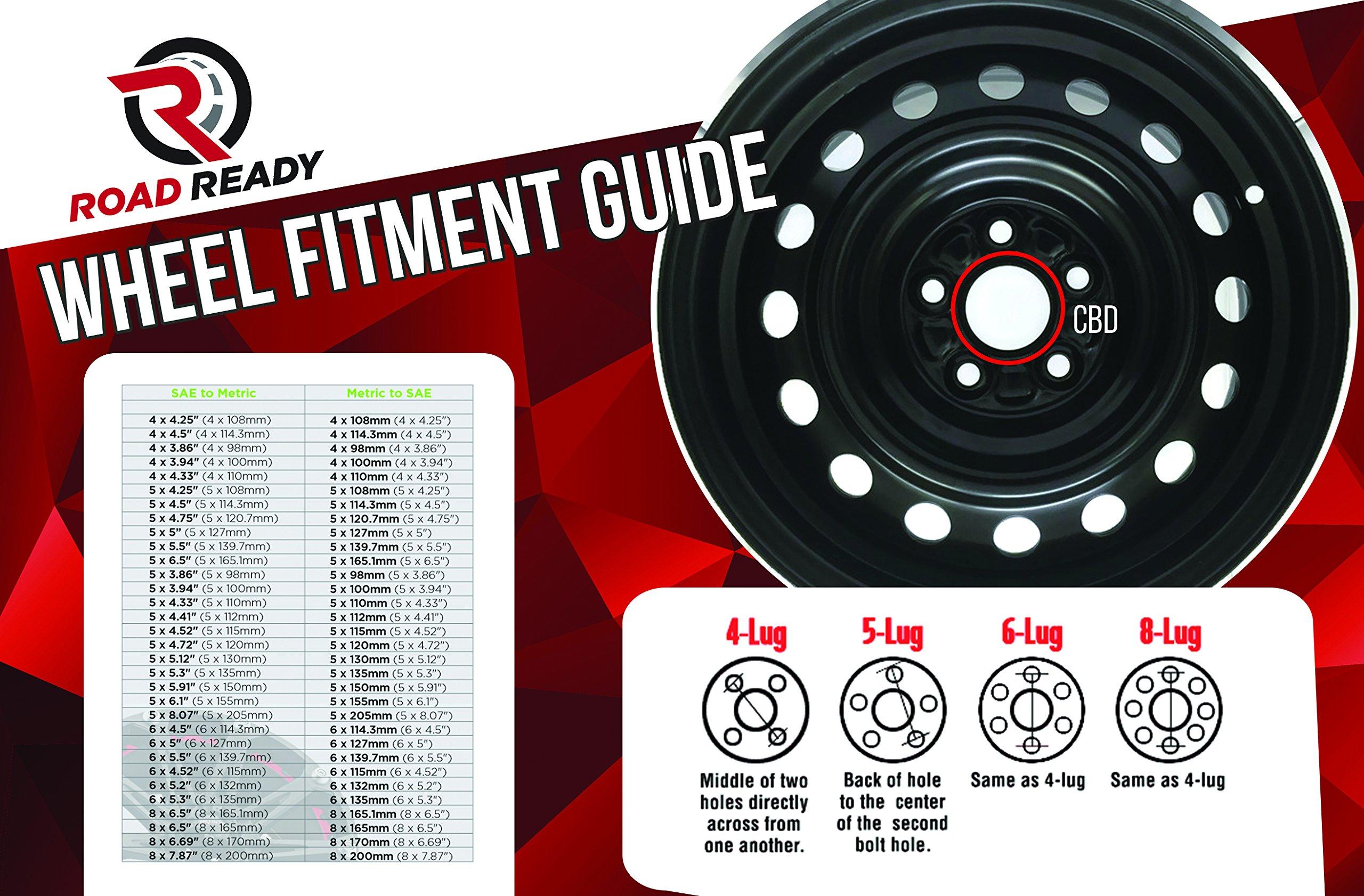 Dodge Ram 1500 Truck 17 Inch 5 Lug Steel Rim/17x7 5-139.7 Steel Wheel by Road Ready Wheels (Image #4)