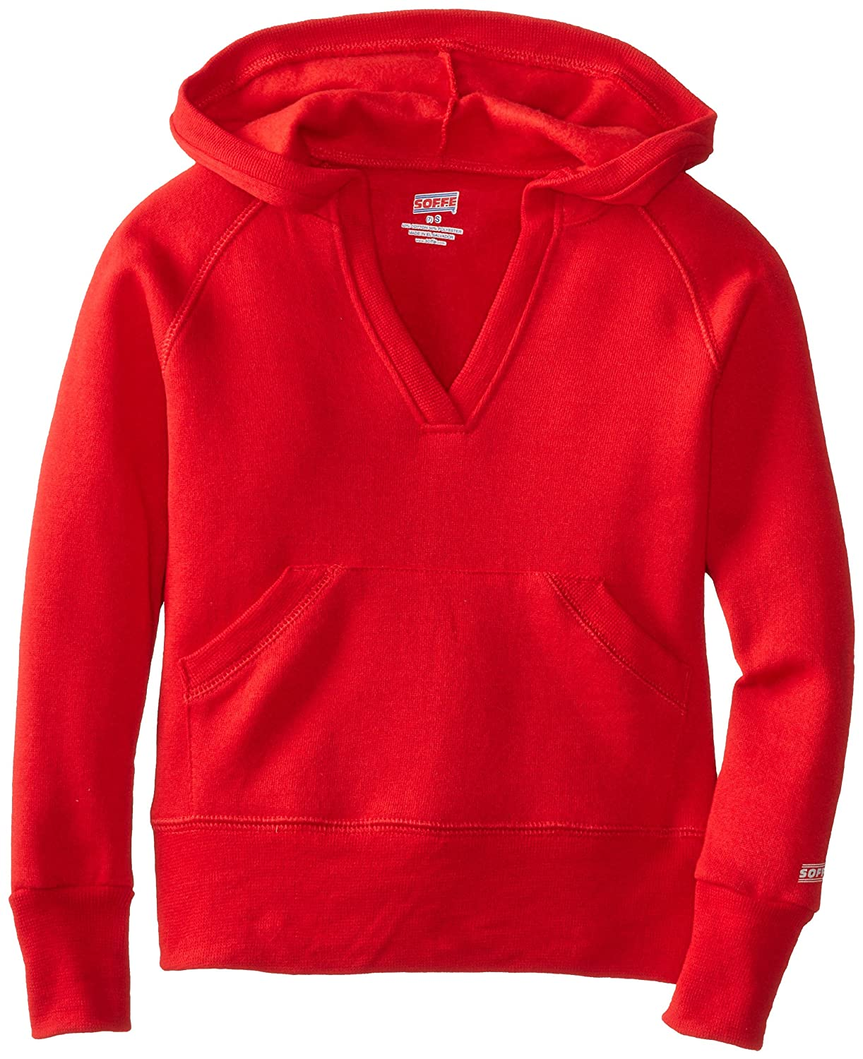 Soffe Big Girls' Rugby Deep V Hoodie Soffe Girls 7-16 7580G