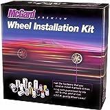 McGard 84538 Black (M12 x 1.5 Thread Size) Bulge Style Cone Seat Wheel Installation Kit for 5-Lug Wheels
