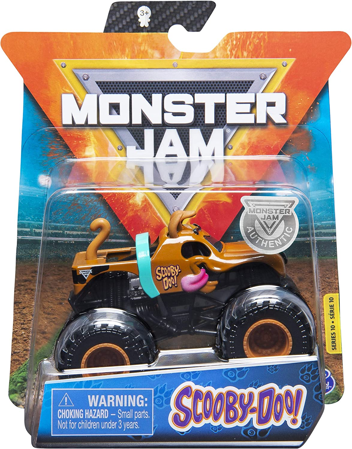 Amazon Com Monster Jam 2020 Spin Master 1 64 Diecast Monster Truck With Wristband Ruff Crowd Scooby Doo Toys Games
