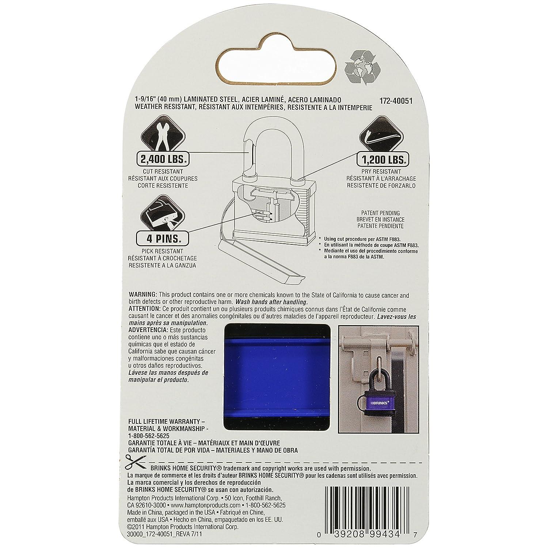 Amazon.com: Brinks 172 – 40051 40 mm resistente a la ...