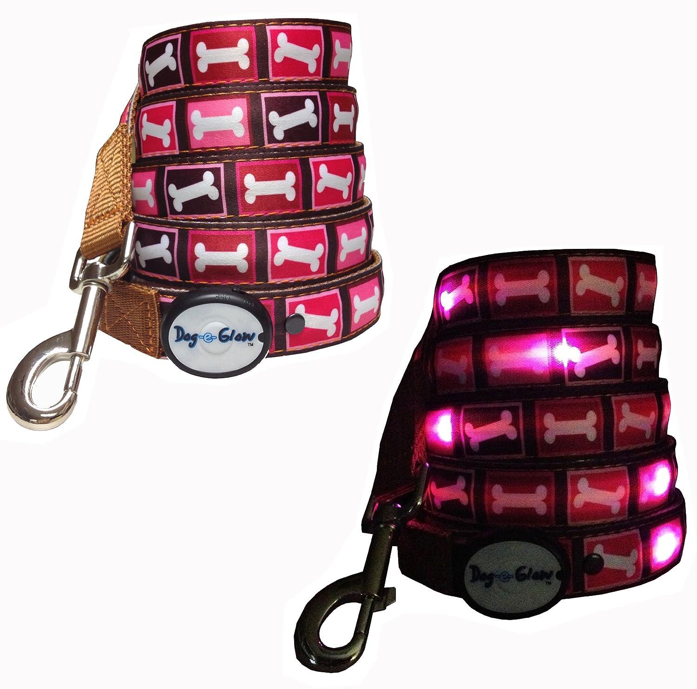 91jucfBkg8L._SL1500_ amazon com dog e glow pink bones lighted led dog leash, 6 feet Wiring Harness Diagram at bayanpartner.co