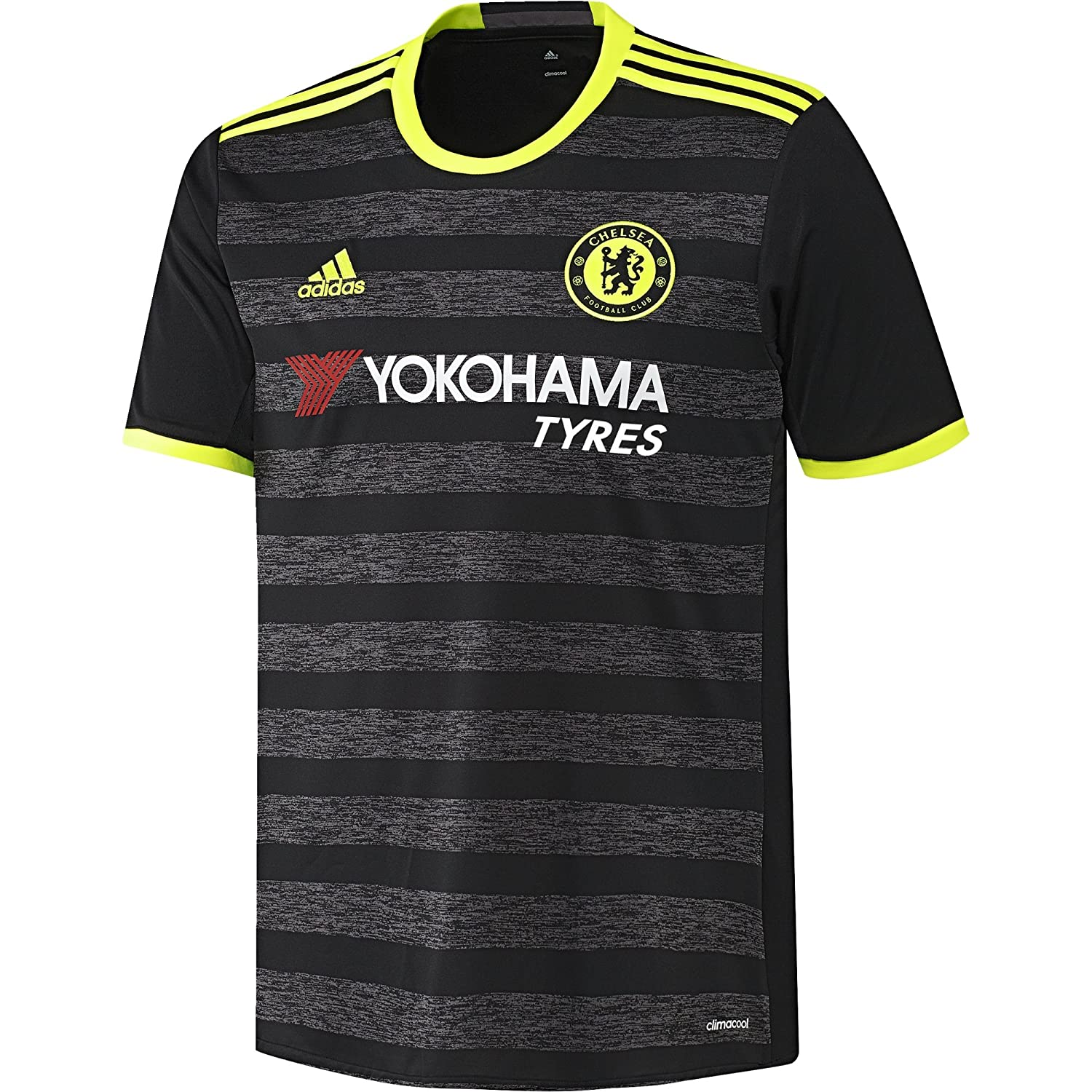 Amazon.com   Adidas Chelsea FC 2016 17 Away Jersey - Adult - Black Solar  Yellow Granite -   Sports   Outdoors 2b01e833f