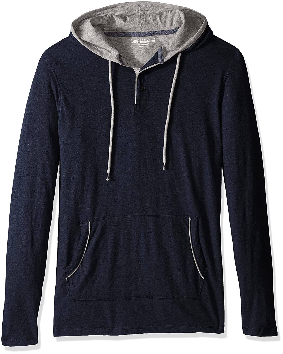 Lee Men's Button Hoodie (Various Colors and Sizes Including Big and Tall) Lee Tops LM36HD161
