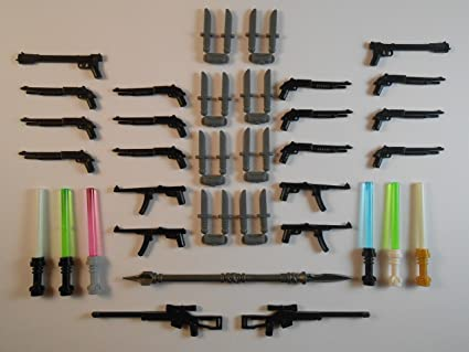 Guns for LEGO Minifigures New Lightsabers Bricks Accessories Toys Lot of 40