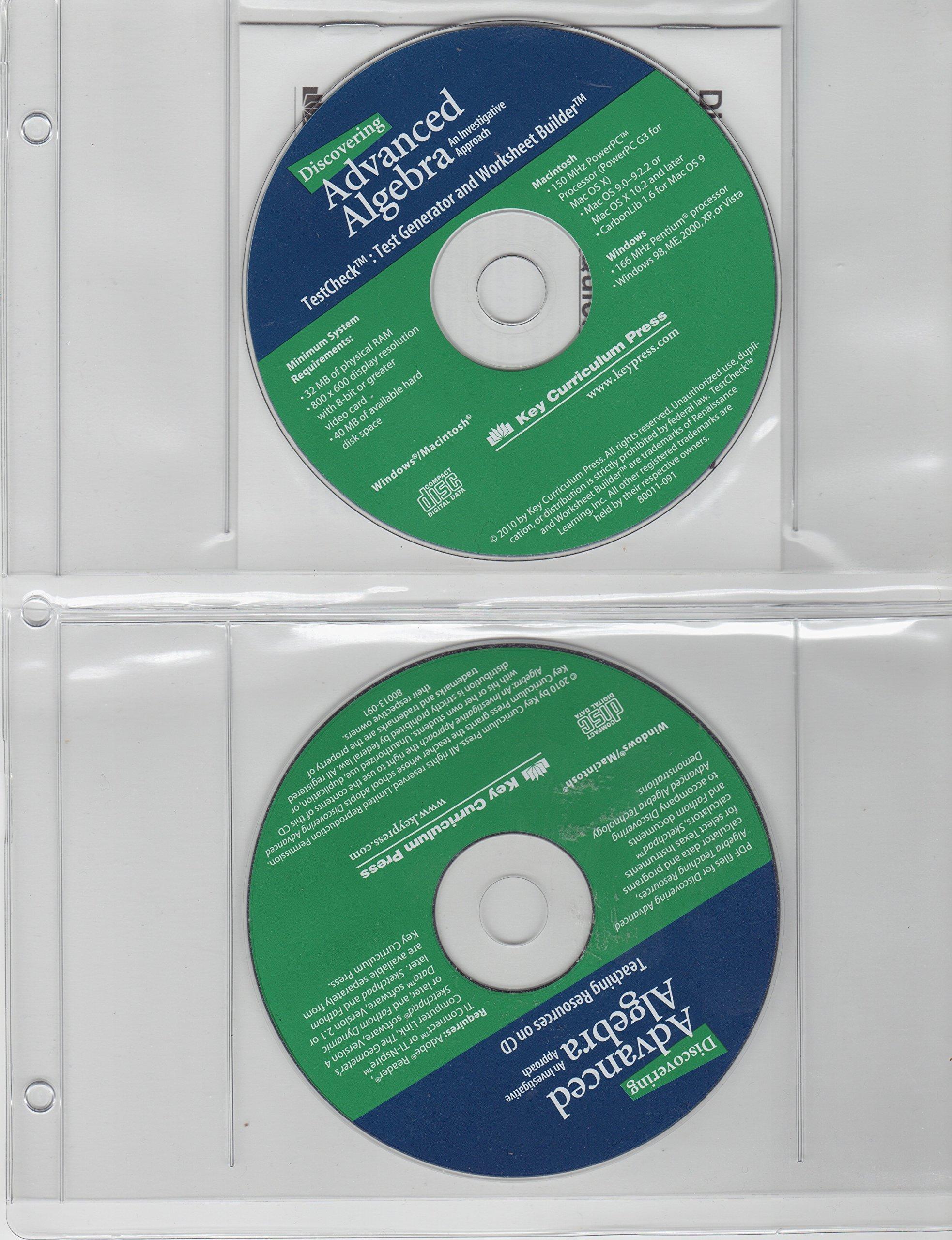 Read Online Discovering Advance Algebra: Teaching Resources on CD, Test Generator and Worksheet Builder pdf epub