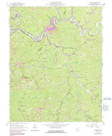 Amazon.com: West Virginia Maps - 1963 Gilbert, WV USGS ...