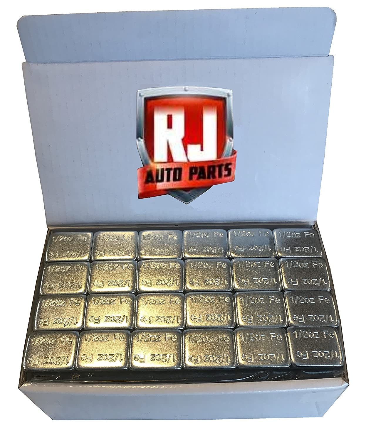 1 Box Wheel Weights, Zinc Plated, 1/2 oz. Stick-on Adhesive Tape (9 lbs) 288 Pieces, Lead Free RJ Auto Parts