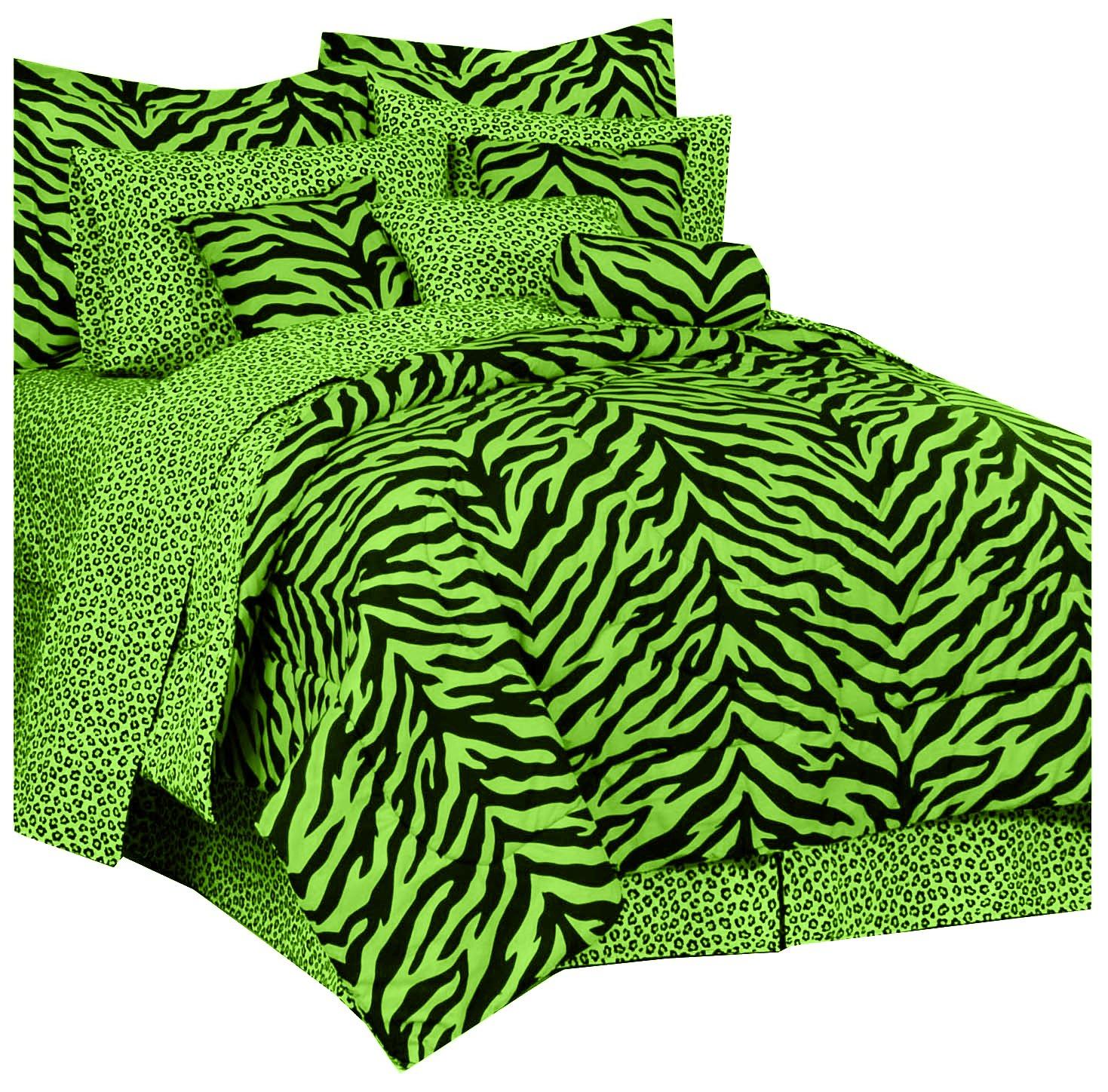 Karin Maki Zebra Complete Bedding Set, X-Large Twin, Lavender Kimlor Inc. 07178400095KM