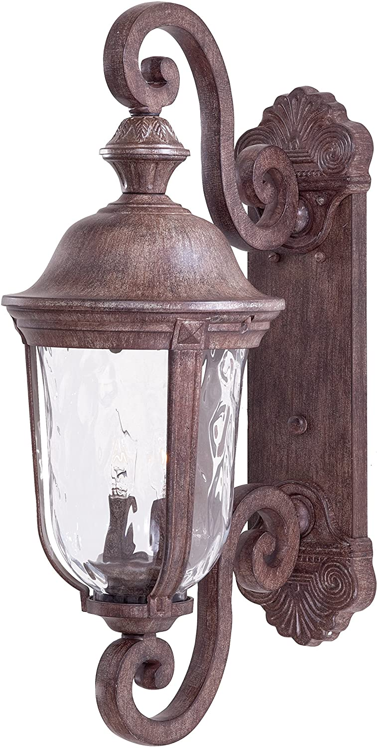 Minka lavery 8991 61 2 light wall mount in vintage rust finish w minka lavery 8991 61 2 light wall mount in vintage rust finish wmouth blown clear hammered glass wall porch lights amazon aloadofball Choice Image