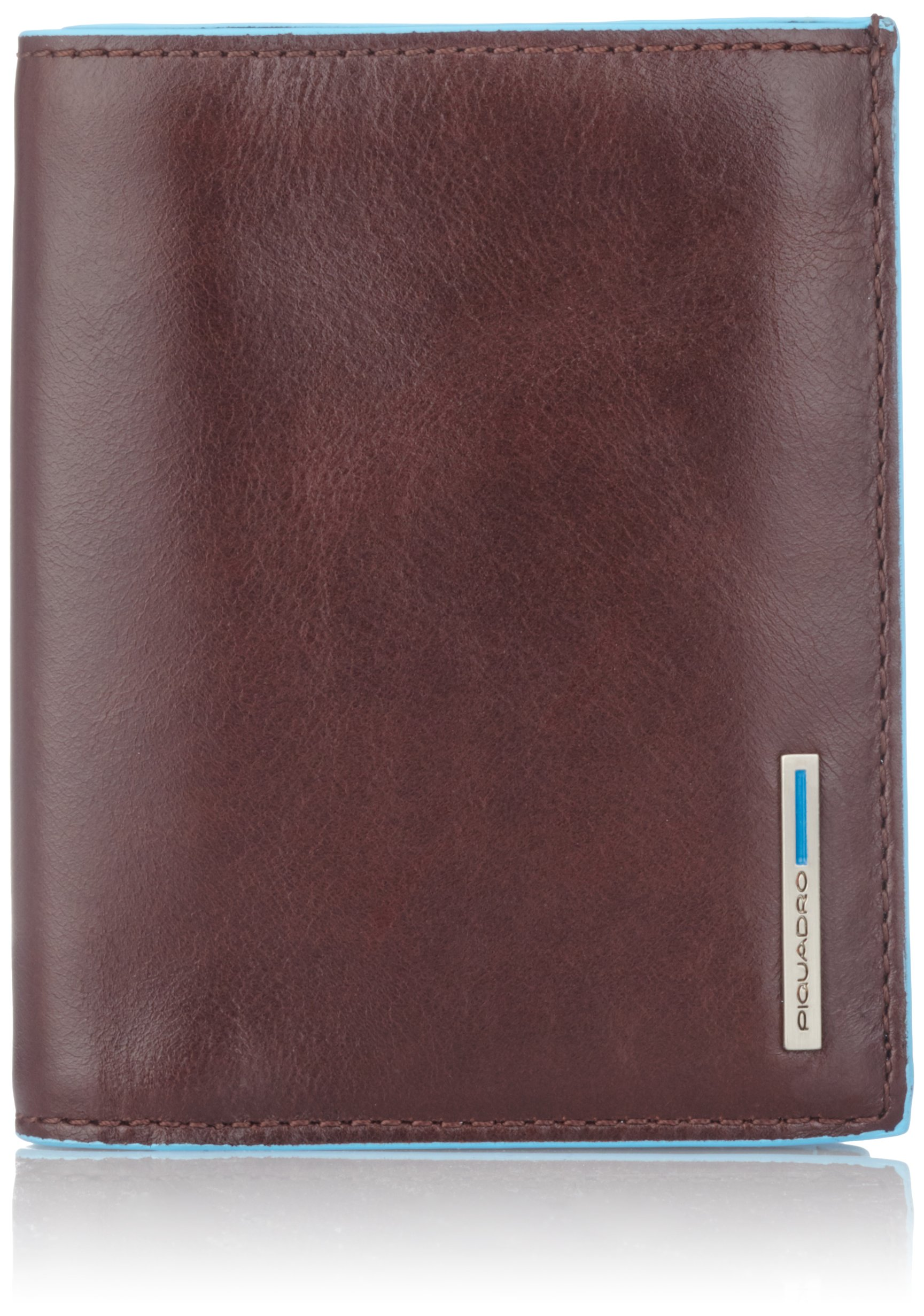Piquadro Men's Wallet Vertical with Coin Case Facility, Mahogany, One Size