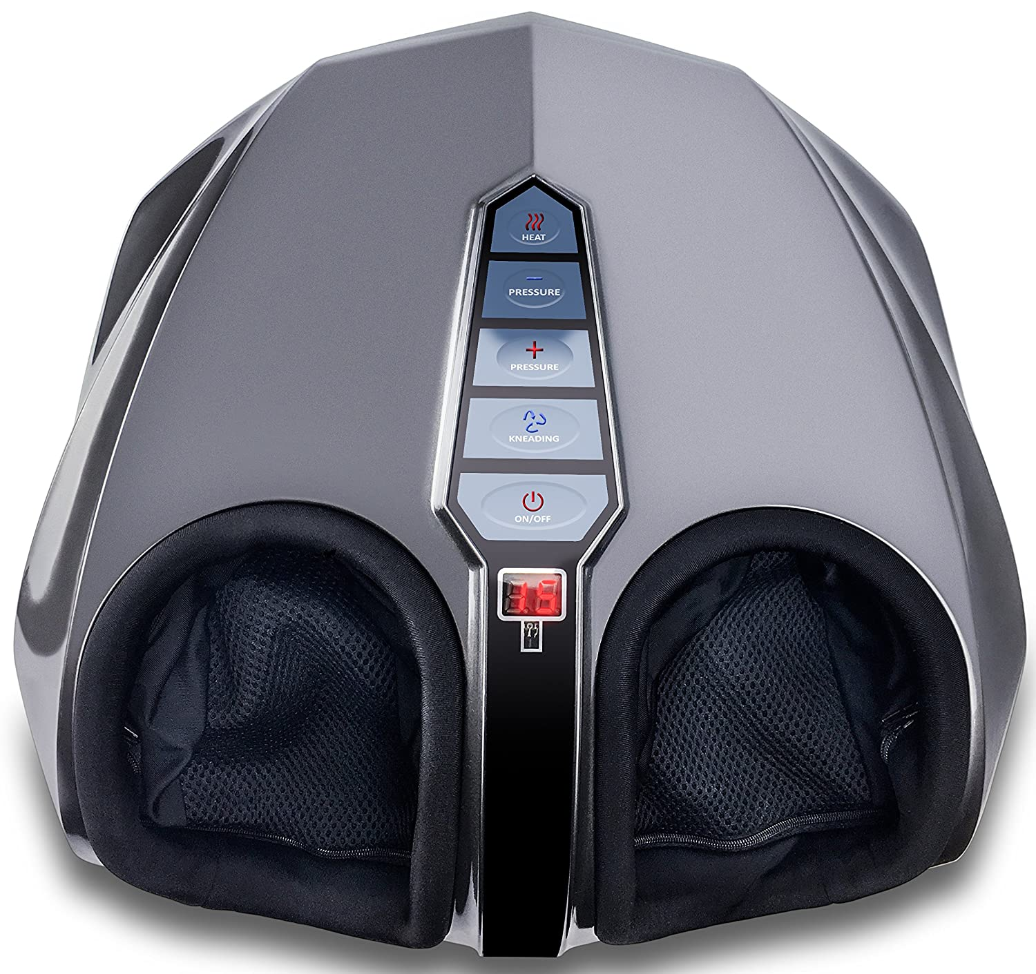 Miko Shiatsu Foot Massager With Deep-Kneading, Multi-Level Settings And Switchable Heat Charcoal Grey